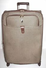 "London Fog Chelsea Lites Olive/Brown Plaid 29"" Expandable 360 Upright - Used"