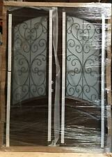 HOLIDAY SALE! + FREE SHIPPING! Wood Iron Door Pre-hung &Finished DMH8619-6