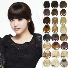 Women's Straight Bangs Real Fringe Synthetic Hair Extensions Clip in Hair Piece