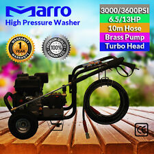 6.5/13HP High Pressure Cleaner Washer 3000/3600PSI Petrol Water Hose Gurney Pump