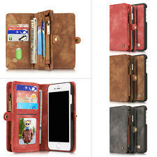 Retro Folio PU Leather Zipper Wallet Card Case Cover Stand for iPhone 7 / 7Plus