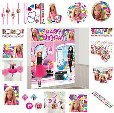 Barbie Birthday Party Supplies Tablecover Cups Plates Decorations