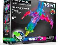 Laser Pegs 16-in-1 Space Fighter 102 pieces Light-Up Galaxy Best Gift Ever! Boy