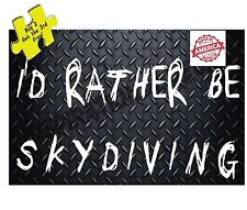 I'D RATHER BE SKYDIVING Decal/Sticker Free Shipping Made in America