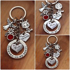 XMAS GIFT Gift keyring- to mum  Dad nana Aunite Nanny-  from little girl, Boy