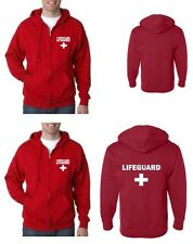 LIFEGUARD ZIPPER HOODIE HOODY JACKET SWEATSHIRT LIFE GUARD 2 optional locations