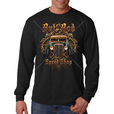 Rat Rod Speed Shop Classic Old School Car Auto Racing Rust Long Sleeve T-Shirt