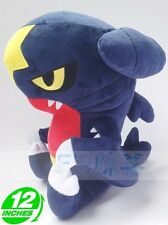 "Plush New Pokemon Gible Garchomp STUFFED TOY Doll Figure 12""H"
