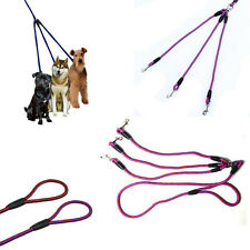Chic Vogue 3Way Dog Coupler Leash No-Tangle Nylon Pet Leash Double For Walking