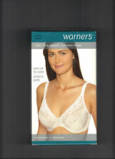 WARNERS 1503 UNDERWIRE WITH SATIN AND LACE CLASSIC IN WHITE