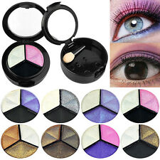 3 COLORS EYESHADOW NATURAL SMOKY COSMETIC EYE SHADOW PALETTE SET BEAUTY OPULENT