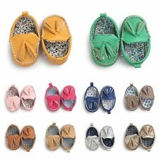 Baby Soft Sole Tassel Leather Shoes Infant Boy Girl Toddler Moccasin 0-18M Lots