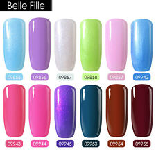 BELLE FILLE Gel Nail Polish Color Soak Off Nail Polish UV LED Gel Nail Art 8ml