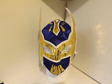 Kids Blue & Gold Sin Cara Replica Wrestling mask. (lucha Libre Wwe Wwf Tna)