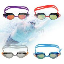 Adult Swimming Goggles Mask Mirrored Anti-Fog UV Shield Swim Glasses - 4 Colors
