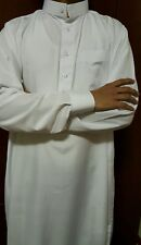 Men Thobe White with Cuffs,Arabic dress, Islamic clothing,jubba,kaftan,Thobes