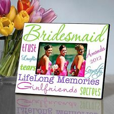 Kaleidoscope Bridesmaid in 7 Colors | Personalized Picture Frame for 4x6 Photo