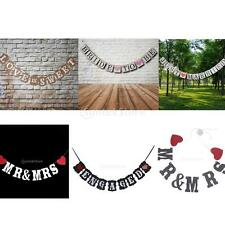 MR&MRS/JUST MARRIED/BRIDE TO BE Paper String Banner Hanging Bunting Flag