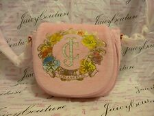 NEW JUICY COUTURE GRILS'  ICONIC VELOUR CROSSBODY BAG XARUH301 ~ NWT