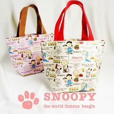 PEANUTS SNOOPY Lunch Tote Bag Purse Handbag Pouch Mini Shoulder Japan R2066
