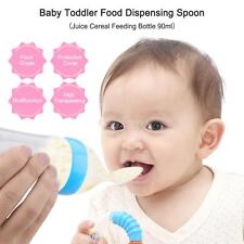 Infant Baby Silicone Feeding Bottle Nipple Spoon Milk Spoon Food Feeder T6T2