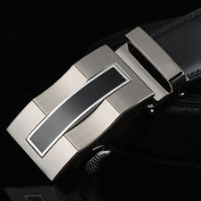 Fashion Mens Genuine Leather Automatic Buckle Luxury Waist Strap Waistband Gift