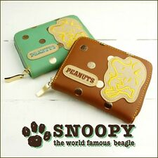PEANUTS SNOOPY Woodstock Mini Wallet Coin Card Case Purse from Japan R2061