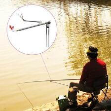 Telescopic Steel Fishing Rod Holder Pole Bracket Fishing Accessory Tool W6G5
