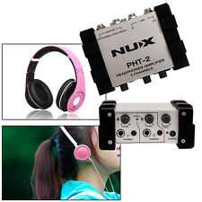 NUX New Portable Audio Stereo Headphone Amplifier Preamp Black Multi-functional