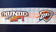 "OKC Thunder 1.5"" 'Thunder Up'  Grosgrain Craft Ribbon"