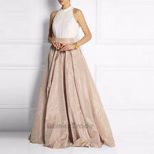 Champagne Taffeta Skirts Long Maxi  Prom Party Evening Celebrity Skirt Ball Gown