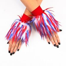 Monster Rave Furry Fuzzy Wrist Cuffs Dance Costume Wear - Made in USA - Closeout