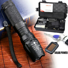 Zoomable X800 XML T6 LED Police Tactical Flashlight+18650 Battery+Charger + Case
