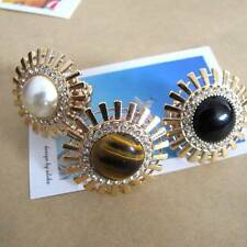Fashion Style Golden Sun Flower Pearl or Stone with Rhinestone Stretch Ring