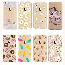 Ultra Thin Crystal Clear Pattern Soft TPU Case For iPhone 5/se/6s/6plus/7/7 plus