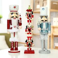 Sparkling Walnut Soldiers Christmas Wooden Nutcracker Soldier Xmas Gift Ornament