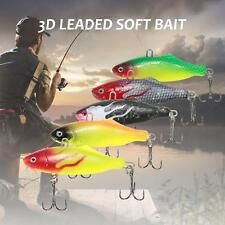 2pcs PVC Sub Soft Fishing Lure Pike Salmon Baits Bass Trout Fish Hook SetAC N8T1