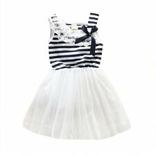 Aussie Seller Girls stripe lace tutu party dress