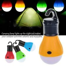 NEW Outdoor Hanging 3 LED Camping Tent Light Bulb Fishing Lantern 4 Colors
