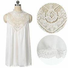 AUSSIE SELLER Womens white lace chiffon cocktail dress
