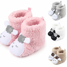 Baby Boys Girls Winter Warm Boots Newborn Toddler Infant Soft Sole Shoes 0-12M
