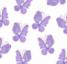 Lilac Butterfly Embellishments with organza, glitter, wire and rhinestones