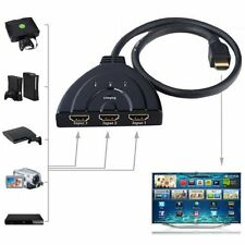 3 Port 1080P HDMI AUTO Switch Splitter HUB Box Cable for DVD HDTV STB Hot WA