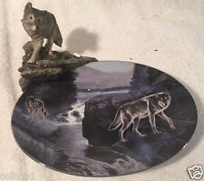 Will of the Wild by Al Agnew Moonlit Journey waterfall pack collector plate