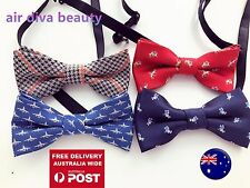 AU Boys Kids Children Party Pre-tied Wedding Dance Silk bow tie Necktie bowtie