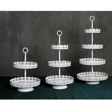 Vintage Metal Cupcake Stand Wedding Party Cake Display Decoration White 2/3 Tier