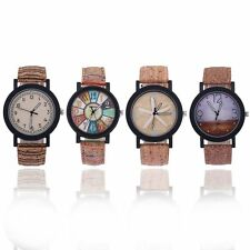 Men's Casual Luxury Leather Band Stainless Steel Wrist Watch Quartz Analog