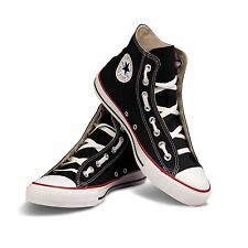Converse Unisex Black Chuck Taylor All Star Classic Hi Canvas Casual Sneakers OX
