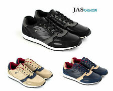 Mens Lace Up Leather Trainers Casual Running Walking Shoes Designer Gym JAS Size