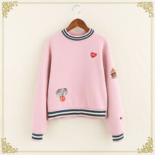 Preppy style Loose Short Sweater Kawaii Girl Coat Vintage Japanese Pullover